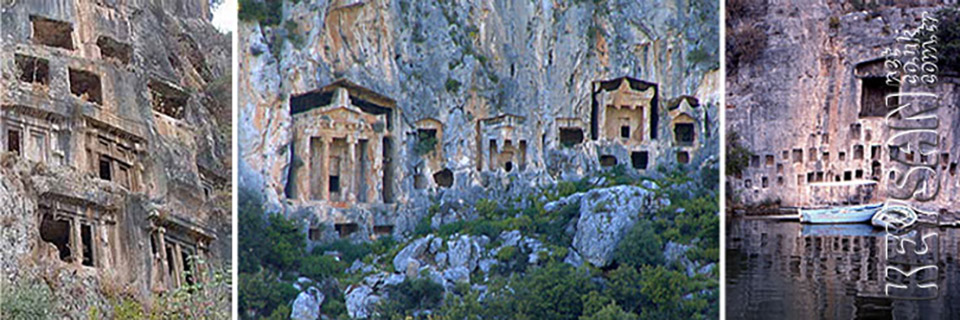 Dalyan rock tombs